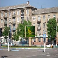 Дружковка, 2013. LED-экран ко Дню Победы