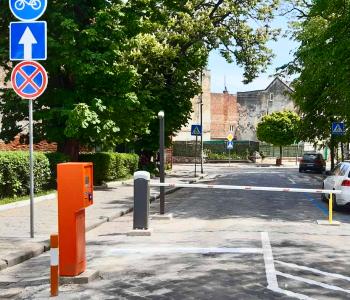 Парковка с односторонним движением в центре г. Дрогобыч