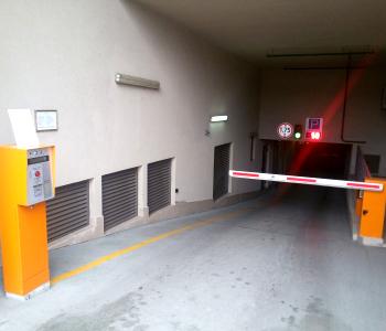 Реверсивная подземная автоматическая парковка отеля Фермонт в г. Киев
