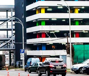 Полуавтоматическая многоуровневая парковка для ТРЦ Ocean Plaza в г. Киев