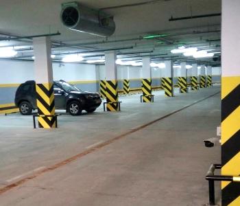 Подземный автоматический паркинг с распознаванием номеров для велотрека в г. Киев