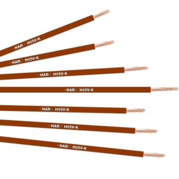 H05V-K 1X1 коричневый