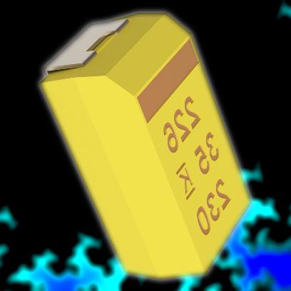 1 мкФ 35 В 20% (CASE-B)