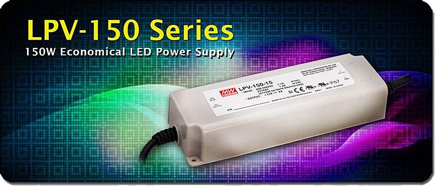 LPV-150 –  экономичные источники питания Mean Well для светодиодного освещения
