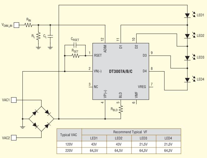 Типовое решение для конструирования платы на базе микросхемы Acrich3.0 DT3007_A_B_C_