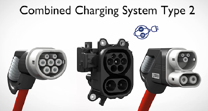 Разъемы электромобиля CCS - для комбинированной зарядки электромобилей AC&DC