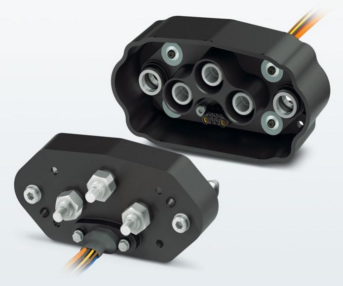 Разъемы для подключения сменных аккумуляторных батарей электробусов