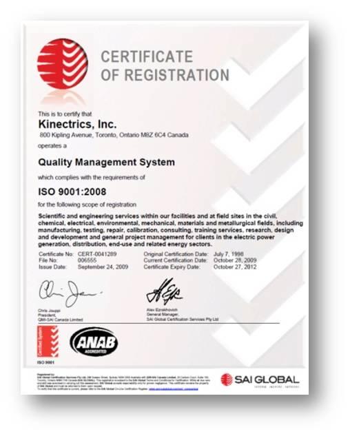 Сертификат Композитный провод для ЛЭП HVCRC Smart Conductor