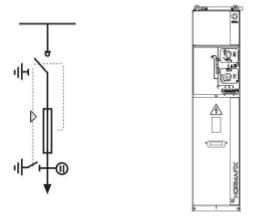 Выход трансформатора с предохранителями, оснащен отключателем нагрузки ISF (с ручным приводом CI2).