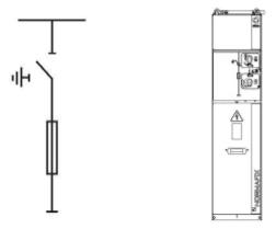 - CD Прямой кабельный вход/выход (по желанию с сигнализацией напряжения на шинах и заземлитель) - CDM вход снизу, выход на главных шинах сбоку с возможностью измерения тока, напряжения и сигнализации наличия напряжения на шинах.