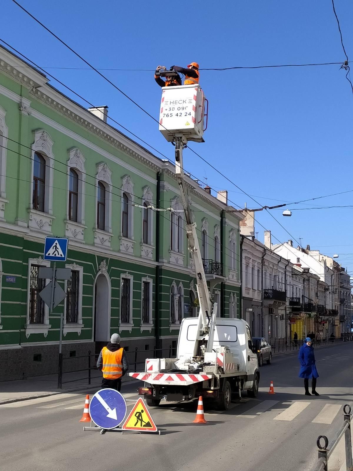 вуличне освітлення у Тернополі