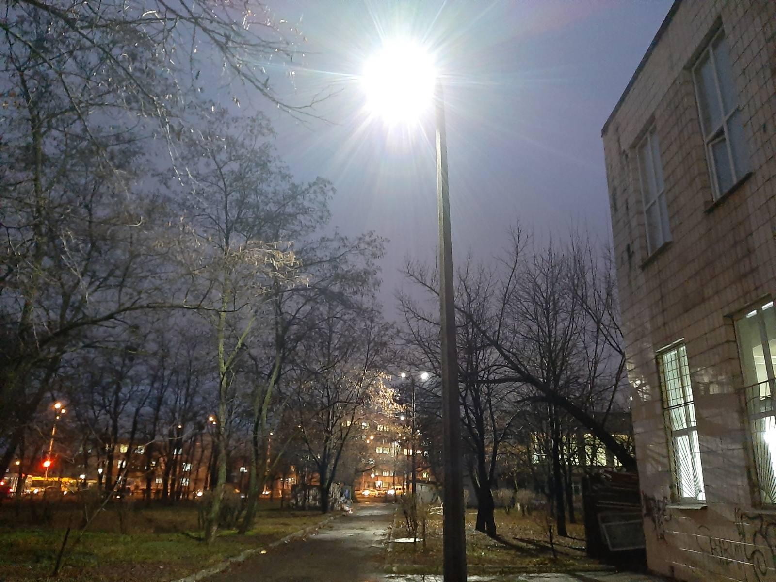 зовнішнє освітлення для КВПУтдо, світлодіодне освітлення, освітлення училища технологій та дизайну одягу