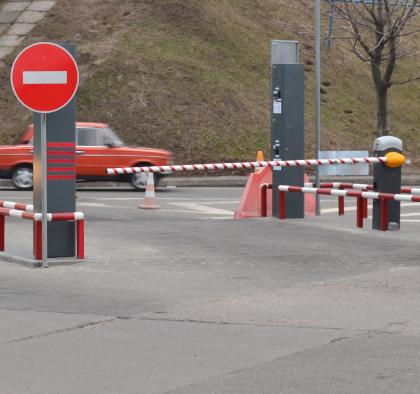 Выезд с реверсивной парковки автовокзала в Днепропетровске