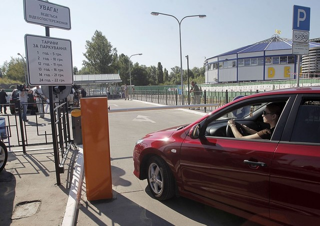 Перехватывающий паркинг СЕА на объекте в Киеве