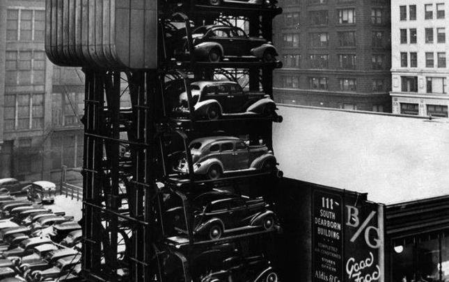 парковка, обладнання парковки, паркінг, облаштування паркінгу, еволюція парковки
