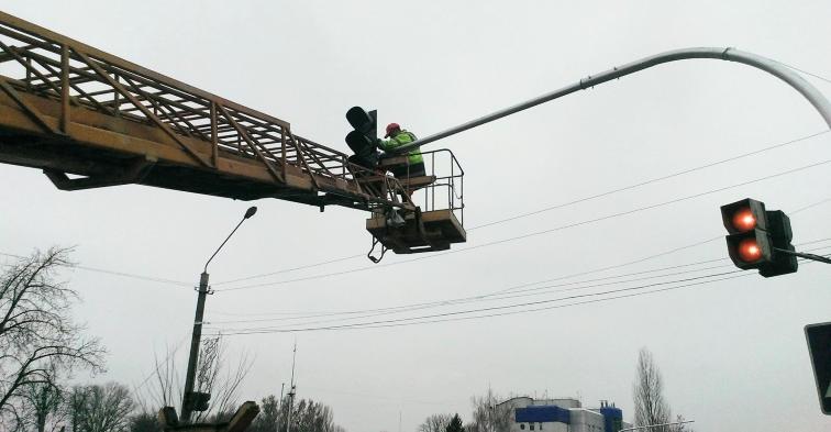Установка светофора производства СЭА