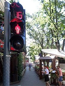 Пешеходный светофор СЭА в Одессе