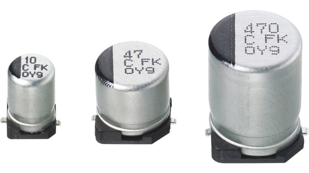 Приклад маркування електролітичних SMD конденсаторів