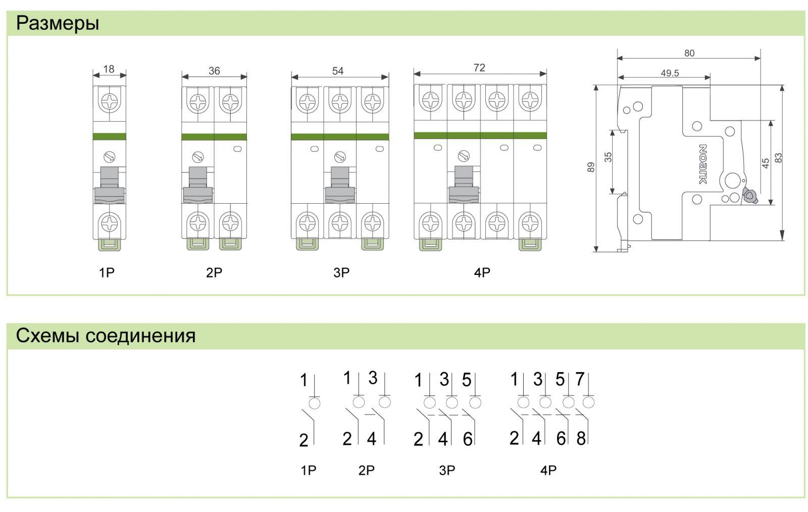 Модульные выключатели для электропроводок