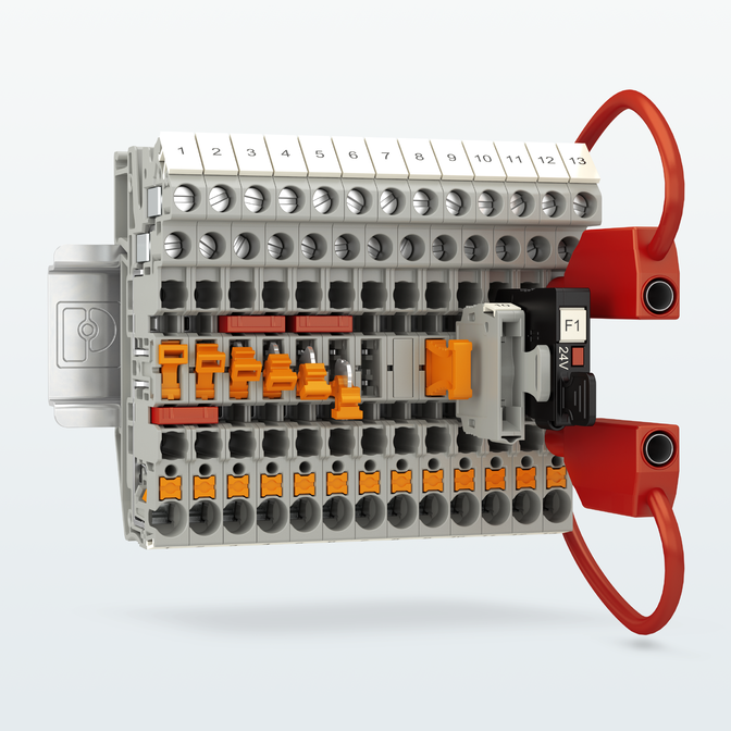 Безпечний поділ сигналів в одній клемі з двома типами підключення