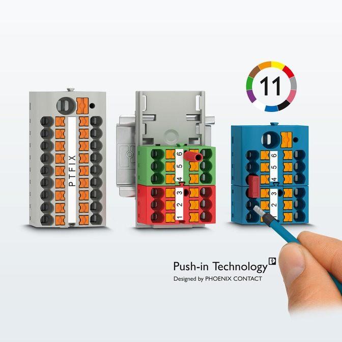 распределительные блоки с технологией push-in, распределительные блоки
