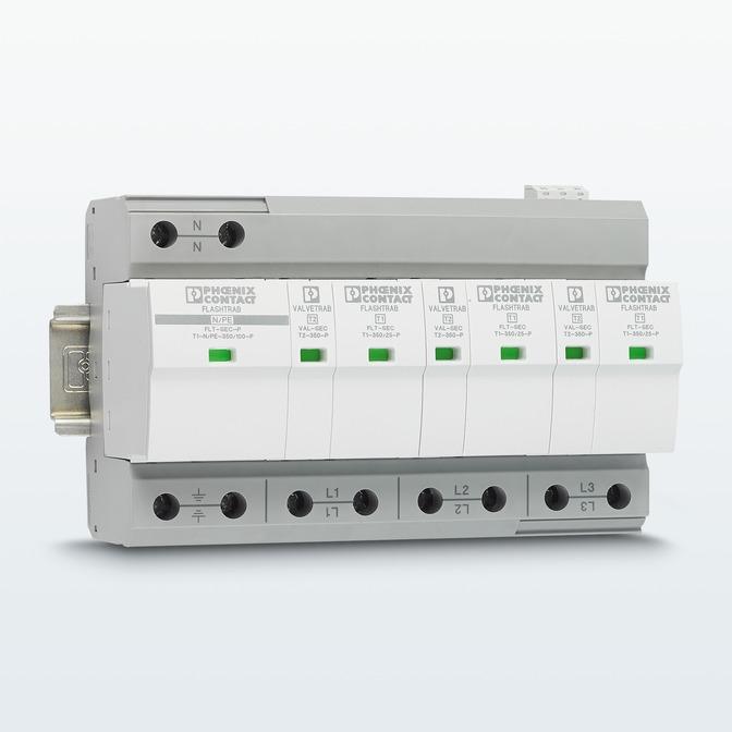 FLASHTRAB-SEC-T1+T2 – комбинированное защитное устройство 1 и 2 типа