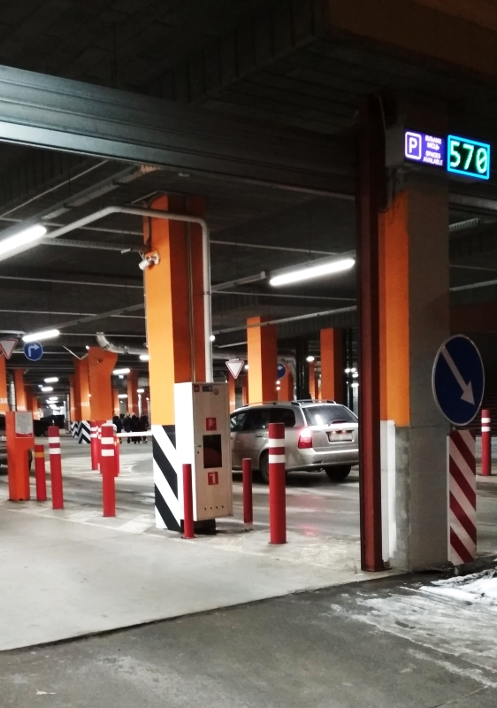 Parking lot for the largest Auchan in Ukraine