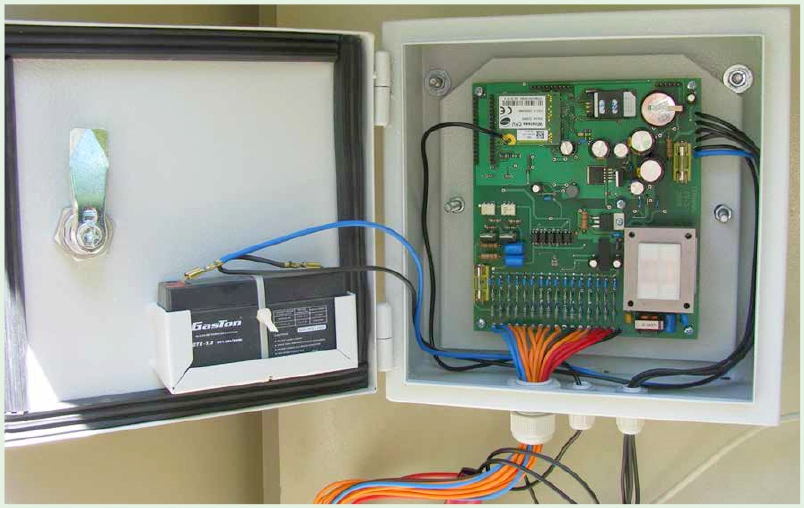 Lighting control terminal in the I-70 cabinet