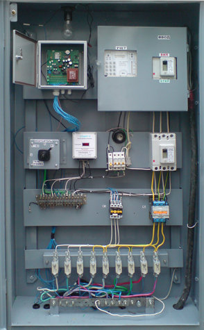 Lightning control panel in a cabinet SEA I-70 at the SLCS activation station