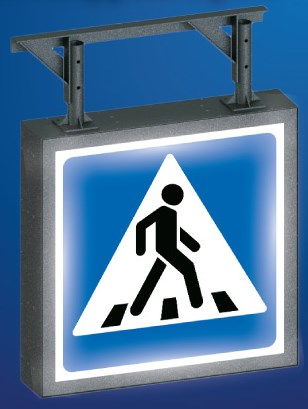 Illuminated road sign