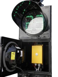 LED pedestrian light with a timer and button