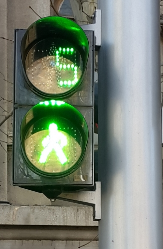 Led traffic warning light for pedestrians