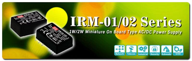 IRM-01/02 - новые AC/DC-преобразователи для монтажа на плату