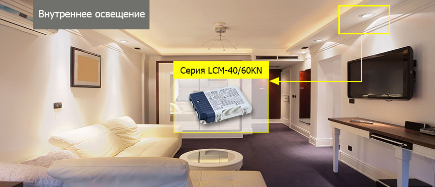 Пример использования LCM-40KN и LCM-60KN