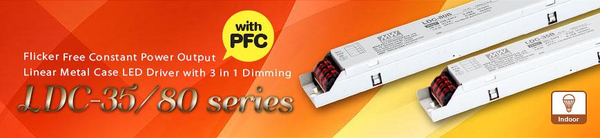 LDC-35 и LDC-80 - новые светодиодные драйверы для линейных светильников