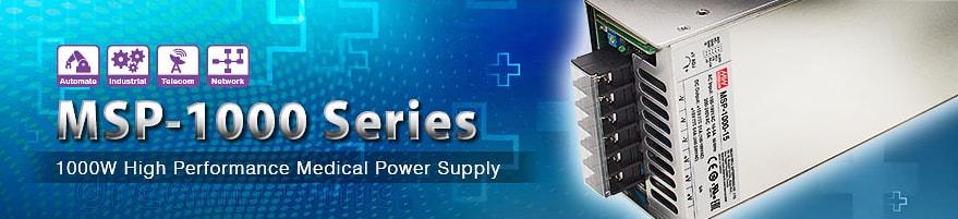 MSP-1000 - новый AC/DC-преобразователь мощностью 1000 Вт
