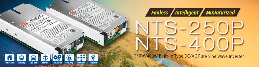 Інвертори з чистою синусоїдою серій NTS-250P та NTS-400P