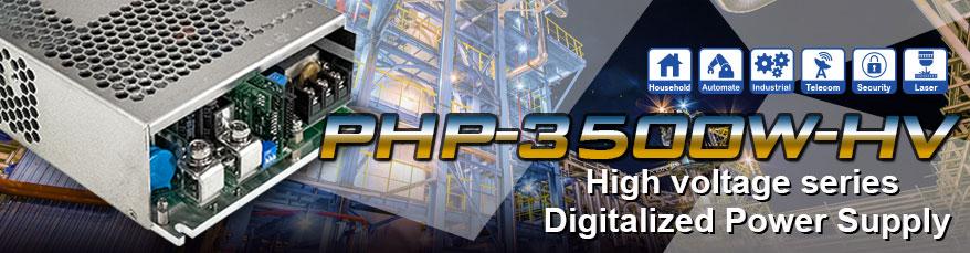 PHP-3500-HV - нова серія джерел живлення з вихідними напругами 115 В, 230 В та 380 В DC від MEAN WELL