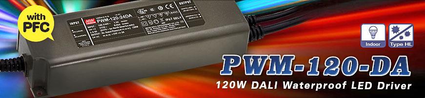 LED-драйверы PWM-120-12DA и PWM-120-24DA с функцией DALI димминга