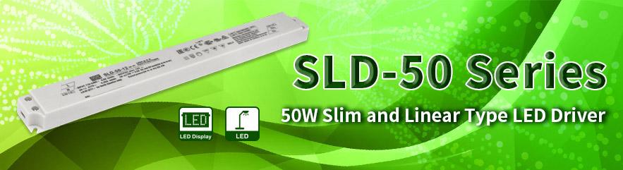SLD-50 – ультратонкий LED-драйвер MEAN WELL мощностью 50 Вт