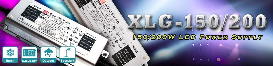 XLG-150 и XLG-200 - LED-драйверы MEAN WELL мощностью 150 и 200 Вт
