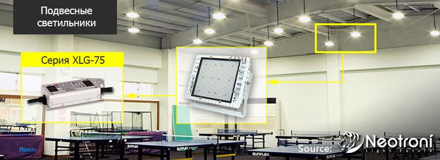 Пример использования новых драйверов для светодиодов XLG-75/100