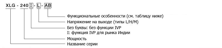 Кодирование лед драйверов XLG-240