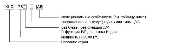 Кодирование драйверов XLG-75 и XLG-100