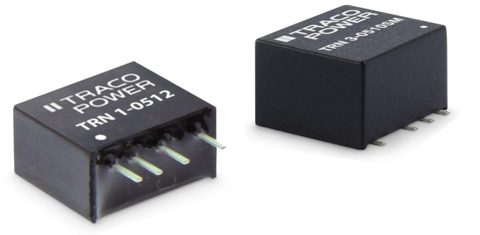 Ультракомпактные, регулируемые DC-DC конвертеры TRACO POWER мощностью 1 и 3 Вт