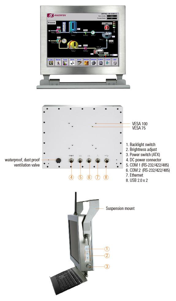 GOT812LR-834, панельный компьютер