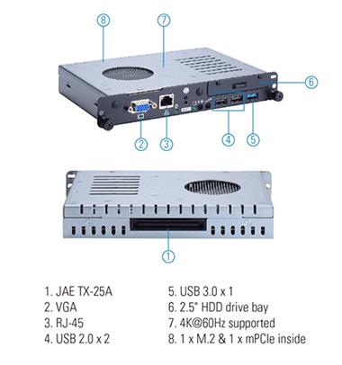 Axiomtek, OPS300-310, оборудование для видеорекламы