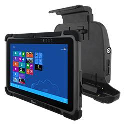 Новый планшетник Winmate с четырехядерным процессором на борту надежно крепится с помощью специального крепления в кабине автомобиля