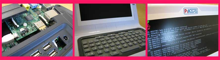 лата «встраивается» в корпус с соответствующими разъемами, в котором уже есть клавиатура, динамики и 7-дюймовый монитор с разрешением 800х480.
