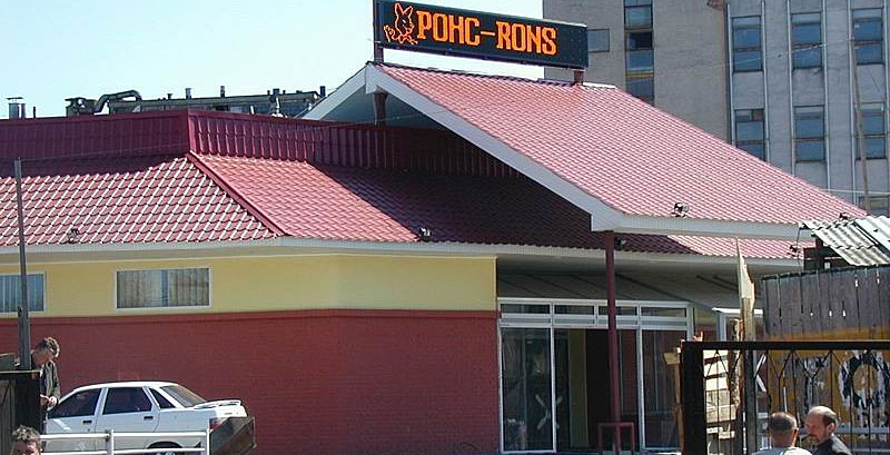 В апреле 2004 года в Украине был смонтирован первый светодиодный экран на здании торгового центра. Монохромный экран низкого разрешения размером 5 х 0,8 метров увенчал крышу одного из житомирских супермаркетов